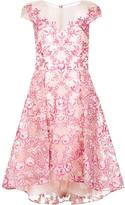 Marchesa embroidered flower dress - women - Nylon - 2