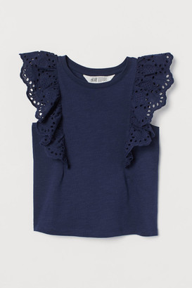 H&M Flounce-trimmed top