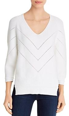Brochu Walker Decker V-Neck Open Knit Sweater