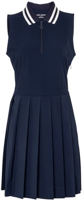 Tory Sport Pleated stretch-jersey minidress