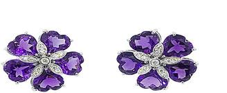 Arthur Marder Fine Jewelry 14K 0.30 Ct. Tw. Diamond & Amethyst Earrings