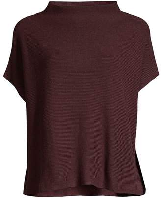 Eileen Fisher Funnelneck Silk & Cashmere Sweater