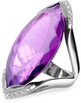 Forzieri Amethyst and Diamond White Gold Fashion Ring