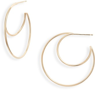 Zoë Chicco Medium Double Wire Hoop Earrings