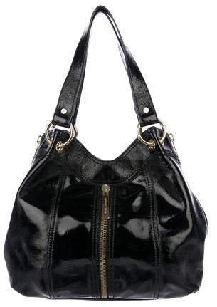 89323ae3a Patent Leather Hobo Handbag - ShopStyle