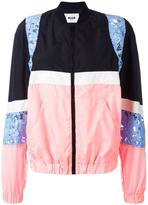 MSGM lace zipped bomber jacket