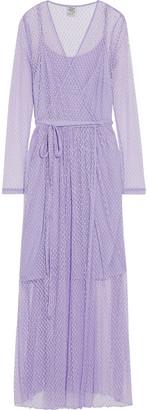 Baum und Pferdgarten Anneline Cotton-blend Point D'esprit Maxi Wrap Dress