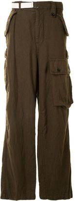Sacai Wide-Leg Cargo Trousers