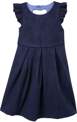 Ava And Yelly Heart Cutout Skater Dress (Toddlers & Little Girls)