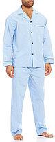 Roundtree & Yorke Big & Tall Long-Sleeve Mini Check Pajama Set
