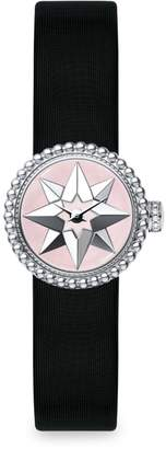 Christian Dior La D de Satin, Mother-Of-Pearl & Stainless Steel Star Watch
