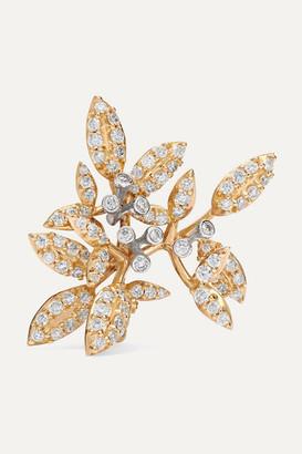 OLE LYNGGAARD COPENHAGEN Winter Frost Large 18-karat Gold Diamond Clip Earring - L