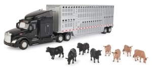 Tomy Peterbilt 1/32 579 Semi with Cattle Trailer