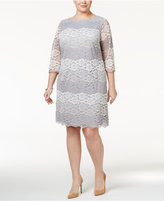 Jessica Howard Plus Size Striped Lace Sheath Dress