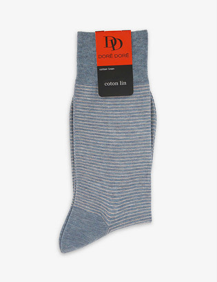 Dore Dore Striped cotton-blend socks