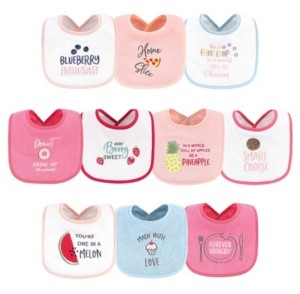 Hudson Baby Boys and Girls Drooler Bibs with Fiber Filling