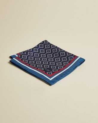 Ted Baker ELMORE Geo print silk pocket square