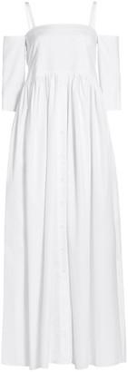 Rosie Assoulin Court Poplin Maxi Day Dress