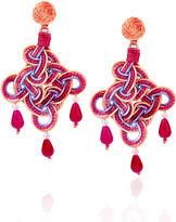 Anna e Alex Pink & Purple Rombo Maxi Earrings