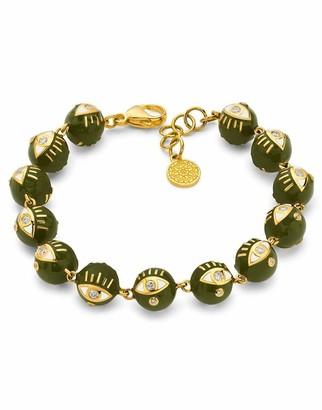 BUDDHA MAMA Army Green Enamel Bead Bracelet