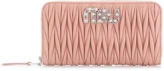 Miu Miu matelassé zipped wallet