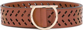 Salvatore Ferragamo laser-cut Gancio belt - women - Calf Leather - 90