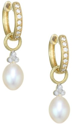 Jude Frances Provence Pearl, Diamond & 18K Yellow Gold Champagne Briolette Earring Charms