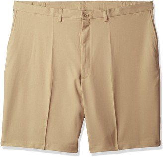 Haggar Men's Big and Tall Cool 18 Pro Classic Fit Stretch Flat Front Short