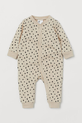 H&M Cotton Jersey Pajamas - Beige