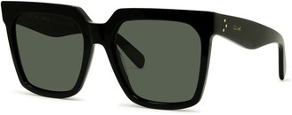 Celine Square Acetate Sunglasses w/ Side Studs