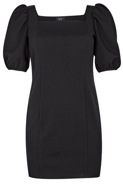 Dorothy Perkins Womens **Lola Skye Black Puff Sleeve Dress, Black