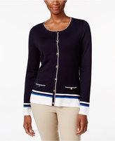 Karen Scott Striped Cardigan, Only at Macy's