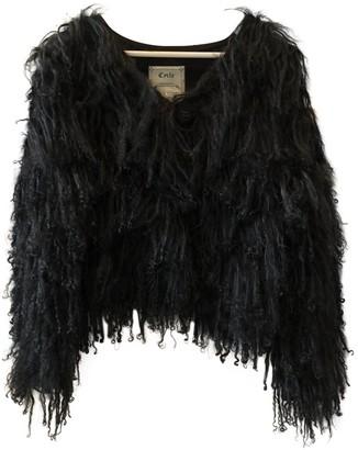 Cycle Black Mongolian Lamb Jacket for Women