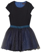 Catimini Navy Jacquard Dress with Glitter Tutu