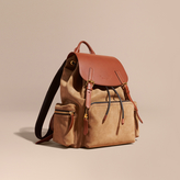 Burberry The Large Rucksack In Suede And Bridle Leather, Brown