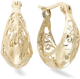 Giani Bernini 18k Gold over Sterling Silver Earrings, Filigree Hoop Earrings