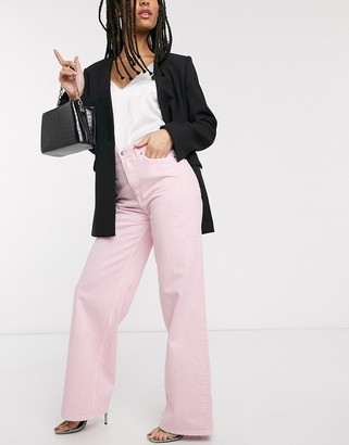 And other stories & organic cotton straight leg jean in pastel pink