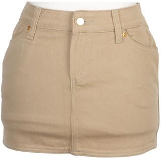 BEIGE Gaultier Junior Cotton Skirt for Women Vintage