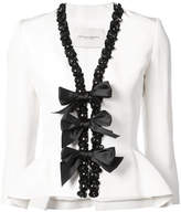Carolina Herrera embellished trim blazer