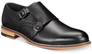 Bar III Jesse Men's Leather Monk-Strap Oxford Shoes