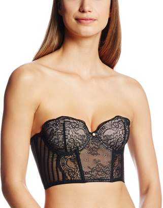Blush Lingerie Women's Sheer Desire Strapless Cropped Corset
