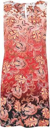Wallis PETITE Orange Paisley Printed Shift Dress