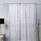 Nicole Miller 2-pack New York Vanderbilt Metallic Print Sheer Window Curtains
