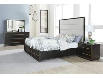 Everly Quinn Blairstown Upholstered Solid Wood 4 Piece Bedroom Set Quinn Bed Size: King
