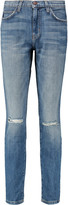 Current/Elliott The Mamacita distressed mid-rise skinny jeans