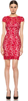 NICHOLAS Colette Lace Knit Dress in Red