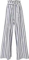 Three Graces London Rosalinda Striped Linen and Cotton-Blend Pants