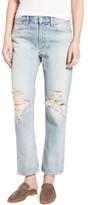A Gold E Women's Agolde Ripped High Waist Straight Leg Jeans