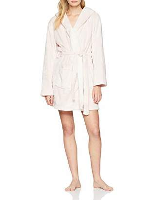 Boux Avenue Women's Floppy Eared Bunny Robe Dressing Gown, (Pink Pq), Large (Size: L)