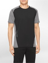 Calvin Klein Performance Colorblock Reflective Print Short Sleeve Shirt